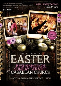 Easter Sunday psd flyer template