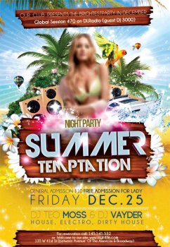 Summer Temptation psd flyer template