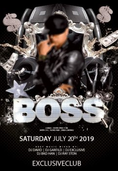 Boss party psd flyer template
